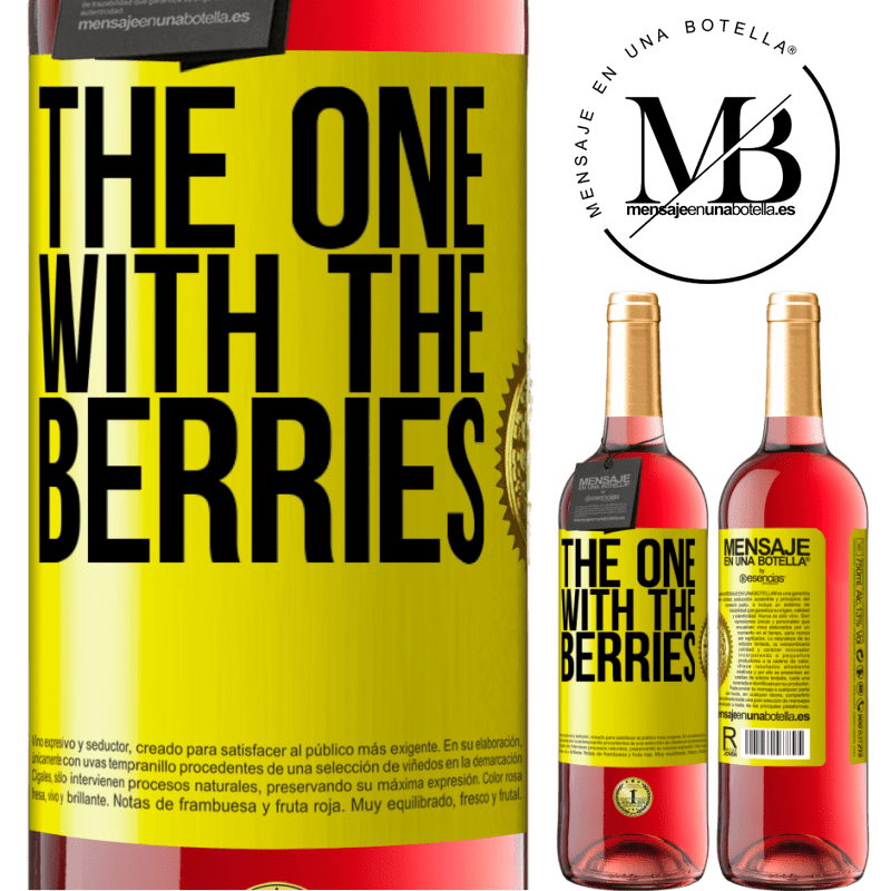 24,95 € Free Shipping | Rosé Wine ROSÉ Edition The one with the berries Yellow Label. Customizable label Young wine Harvest 2020 Tempranillo