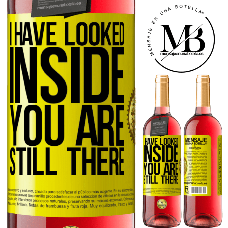 24,95 € Free Shipping | Rosé Wine ROSÉ Edition I have looked inside. You still there Yellow Label. Customizable label Young wine Harvest 2020 Tempranillo