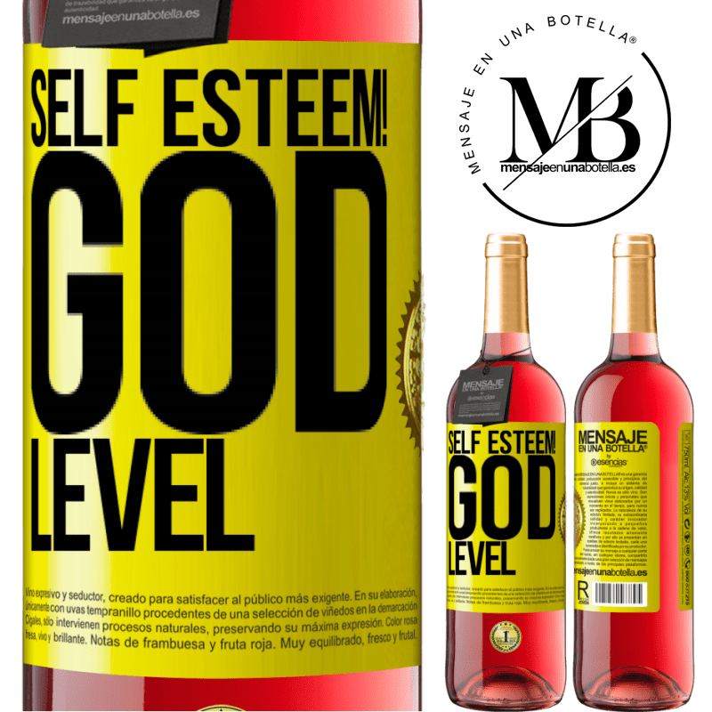 24,95 € Free Shipping   Rosé Wine ROSÉ Edition Self esteem! God level Yellow Label. Customizable label Young wine Harvest 2020 Tempranillo