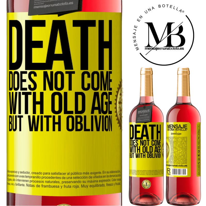 24,95 € Free Shipping   Rosé Wine ROSÉ Edition Death does not come with old age, but with oblivion Yellow Label. Customizable label Young wine Harvest 2020 Tempranillo
