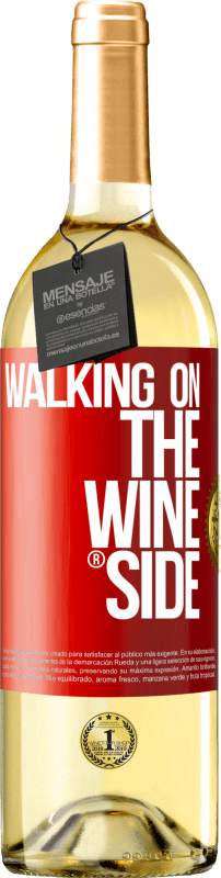24,95 € | White Wine WHITE Edition Walking on the Wine Side® Red Label. Customizable label Young wine Harvest 2020 Verdejo