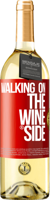 24,95 € Envío gratis | Vino Blanco Edición WHITE Walking on the Wine Side® Etiqueta Roja. Etiqueta personalizable Vino joven Cosecha 2020 Verdejo