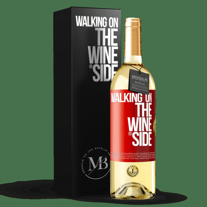 24,95 € Envoi gratuit | Vin blanc Édition WHITE Walking on the Wine Side® Étiquette Rouge. Étiquette personnalisable Vin jeune Récolte 2020 Verdejo