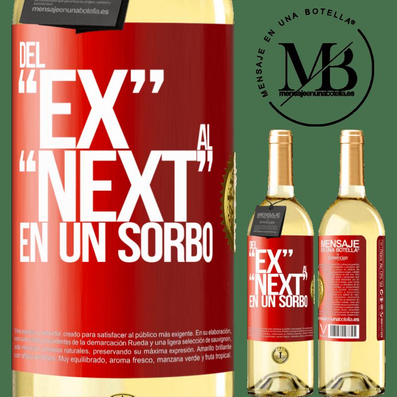 24,95 € Envío gratis | Vino Blanco Edición WHITE Del EX al NEXT en un sorbo Etiqueta Roja. Etiqueta personalizable Vino joven Cosecha 2020 Verdejo