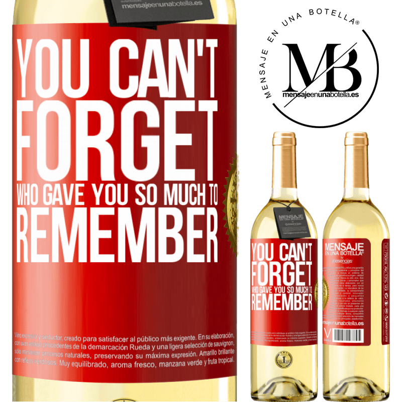 24,95 € Free Shipping | White Wine WHITE Edition You can't forget who gave you so much to remember Red Label. Customizable label Young wine Harvest 2020 Verdejo