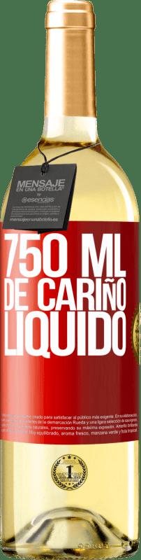 24,95 € Envío gratis | Vino Blanco Edición WHITE 750 ml. de cariño líquido Etiqueta Roja. Etiqueta personalizable Vino joven Cosecha 2020 Verdejo