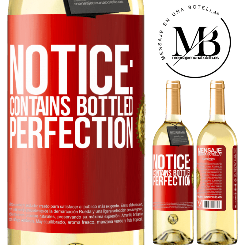 24,95 € Free Shipping   White Wine WHITE Edition Notice: contains bottled perfection Red Label. Customizable label Young wine Harvest 2020 Verdejo
