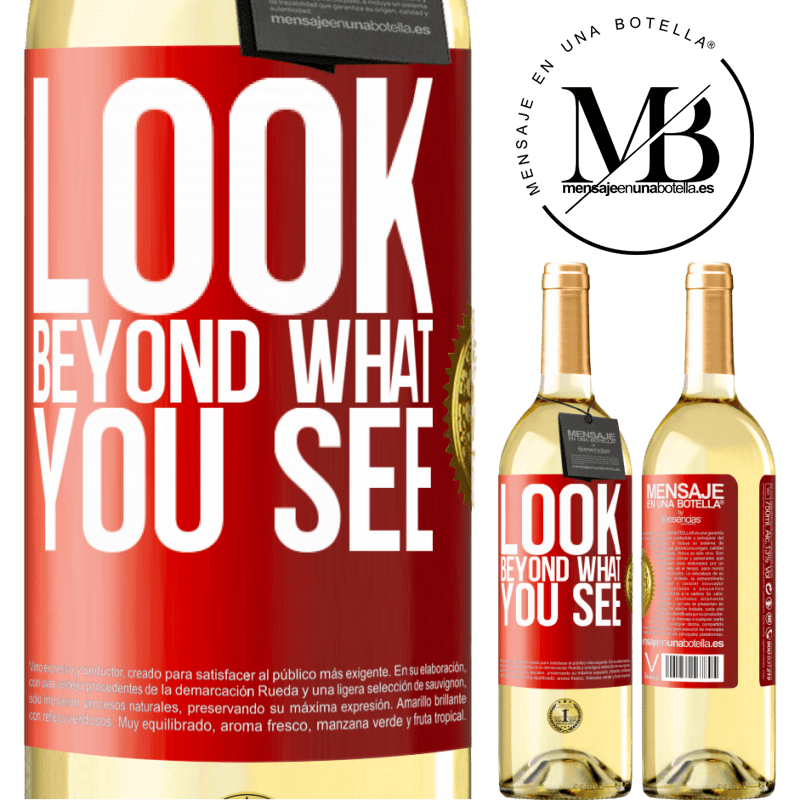 24,95 € Free Shipping | White Wine WHITE Edition Look beyond what you see Red Label. Customizable label Young wine Harvest 2020 Verdejo