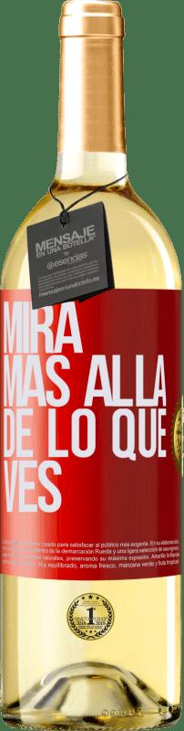 24,95 € Envío gratis | Vino Blanco Edición WHITE Mira más allá de lo que ves Etiqueta Roja. Etiqueta personalizable Vino joven Cosecha 2020 Verdejo