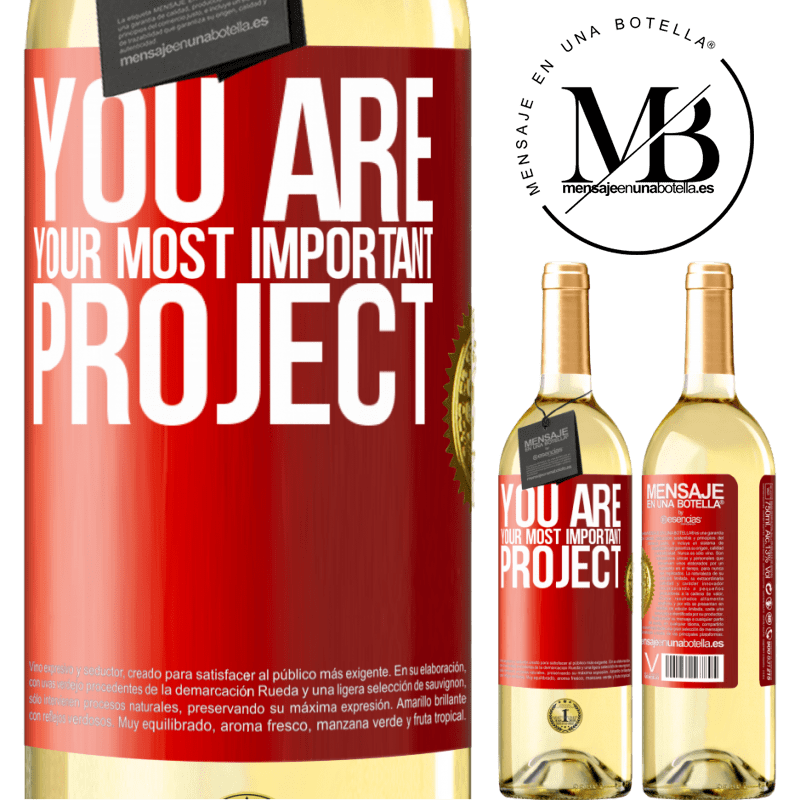24,95 € Free Shipping | White Wine WHITE Edition You are your most important project Red Label. Customizable label Young wine Harvest 2020 Verdejo