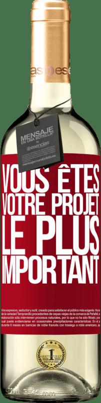 24,95 € Envoi gratuit   Vin blanc Édition WHITE Vous êtes votre projet le plus important Étiquette Rouge. Étiquette personnalisable Vin jeune Récolte 2020 Verdejo