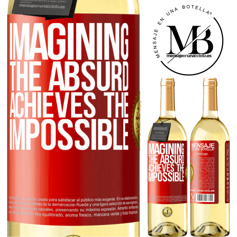 24,95 € Free Shipping   White Wine WHITE Edition Imagining the absurd achieves the impossible Red Label. Customizable label Young wine Harvest 2020 Verdejo