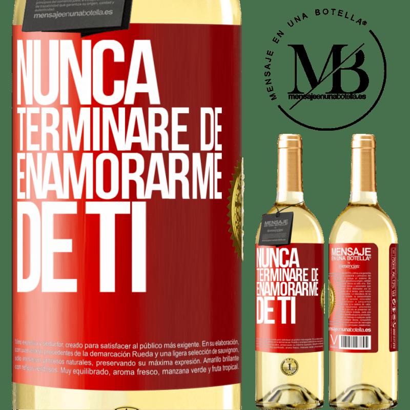 24,95 € Envoi gratuit | Vin blanc Édition WHITE Je ne cesserai jamais de tomber amoureux de toi Étiquette Rouge. Étiquette personnalisable Vin jeune Récolte 2020 Verdejo