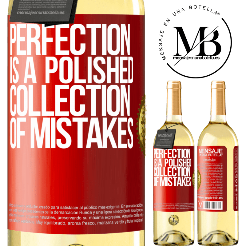 24,95 € Free Shipping | White Wine WHITE Edition Perfection is a polished collection of mistakes Red Label. Customizable label Young wine Harvest 2020 Verdejo