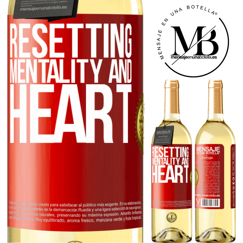 24,95 € Free Shipping | White Wine WHITE Edition Resetting mentality and heart Red Label. Customizable label Young wine Harvest 2020 Verdejo