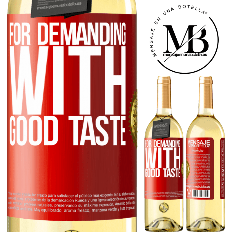 24,95 € Free Shipping | White Wine WHITE Edition For demanding with good taste Red Label. Customizable label Young wine Harvest 2020 Verdejo