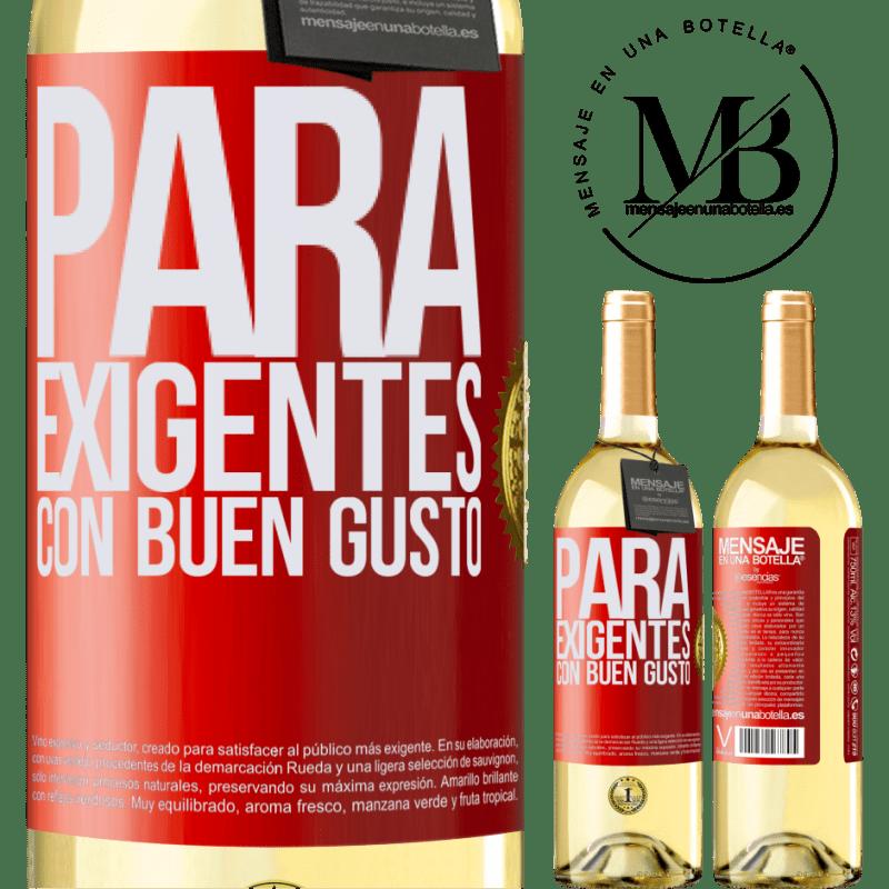 24,95 € Envío gratis | Vino Blanco Edición WHITE Para exigentes con buen gusto Etiqueta Roja. Etiqueta personalizable Vino joven Cosecha 2020 Verdejo