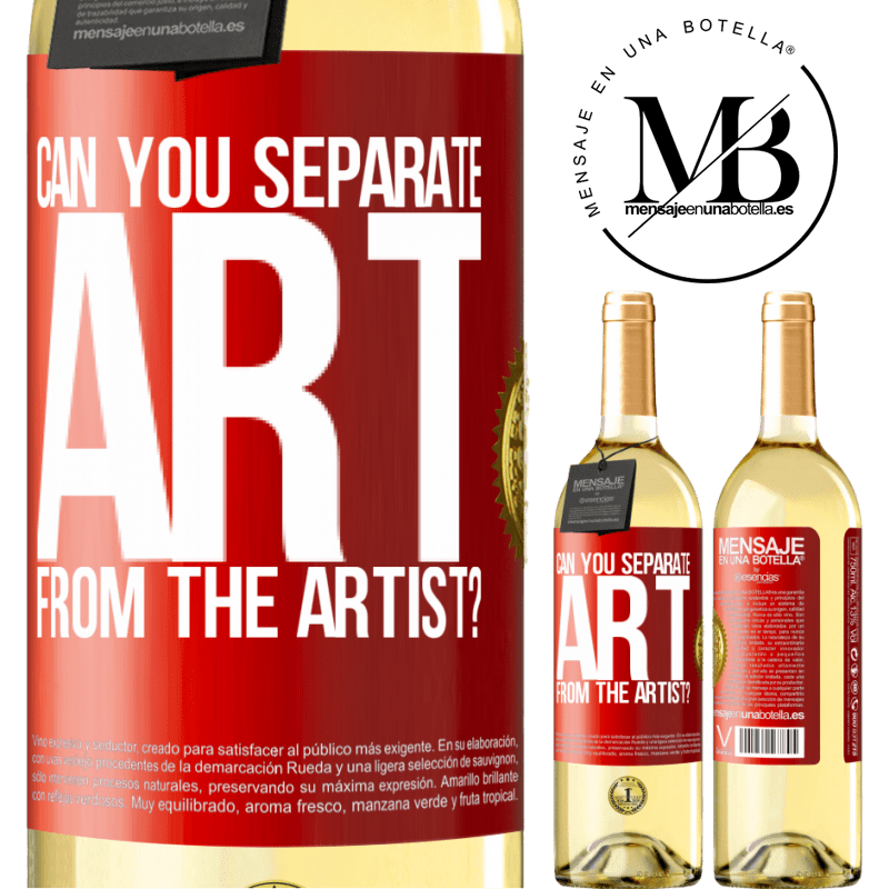 24,95 € Free Shipping   White Wine WHITE Edition can you separate art from the artist? Red Label. Customizable label Young wine Harvest 2020 Verdejo