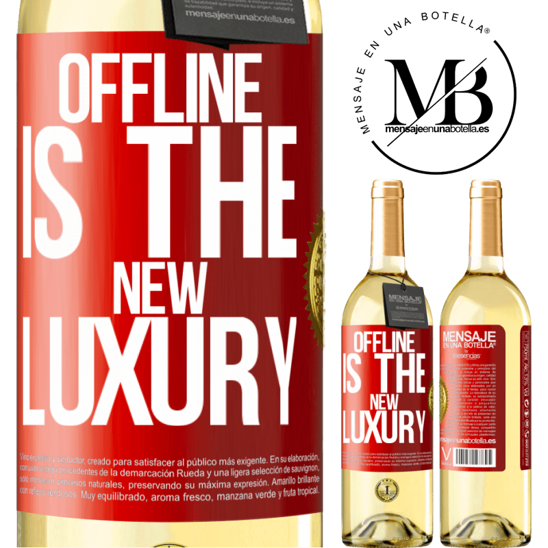 24,95 € Free Shipping | White Wine WHITE Edition Offline is the new luxury Red Label. Customizable label Young wine Harvest 2020 Verdejo