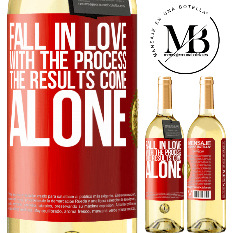 24,95 € Free Shipping | White Wine WHITE Edition Fall in love with the process, the results come alone Red Label. Customizable label Young wine Harvest 2020 Verdejo