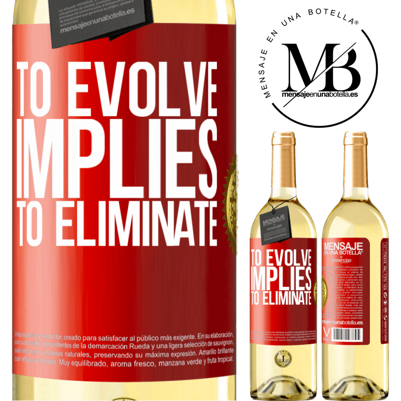 24,95 € Free Shipping | White Wine WHITE Edition To evolve implies to eliminate Red Label. Customizable label Young wine Harvest 2020 Verdejo