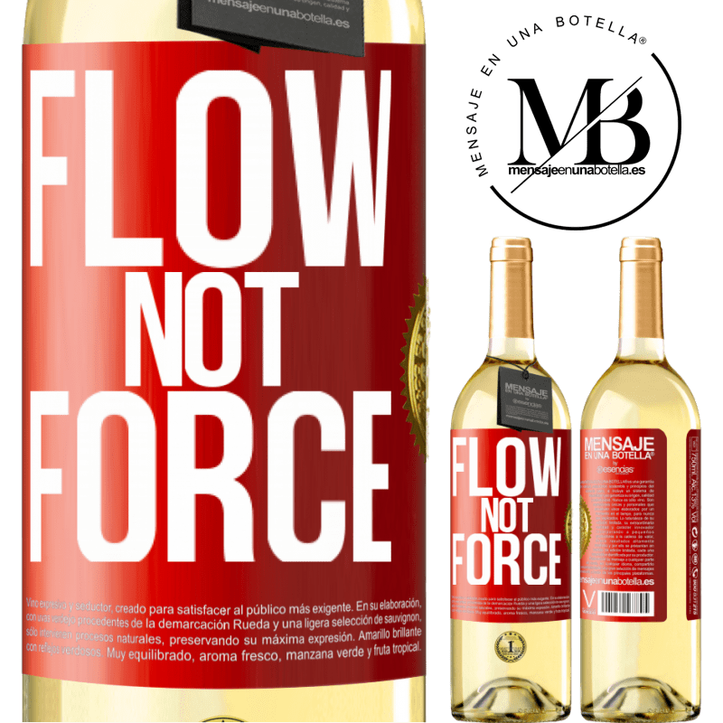 24,95 € Free Shipping   White Wine WHITE Edition Flow, not force Red Label. Customizable label Young wine Harvest 2020 Verdejo
