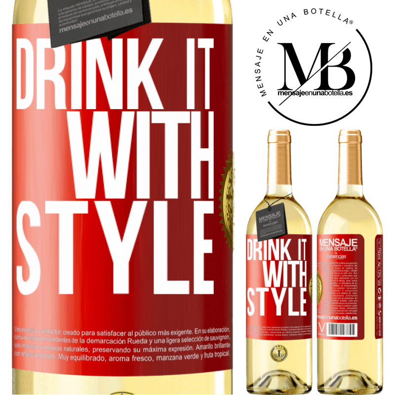 24,95 € Free Shipping | White Wine WHITE Edition Drink it with style Red Label. Customizable label Young wine Harvest 2020 Verdejo