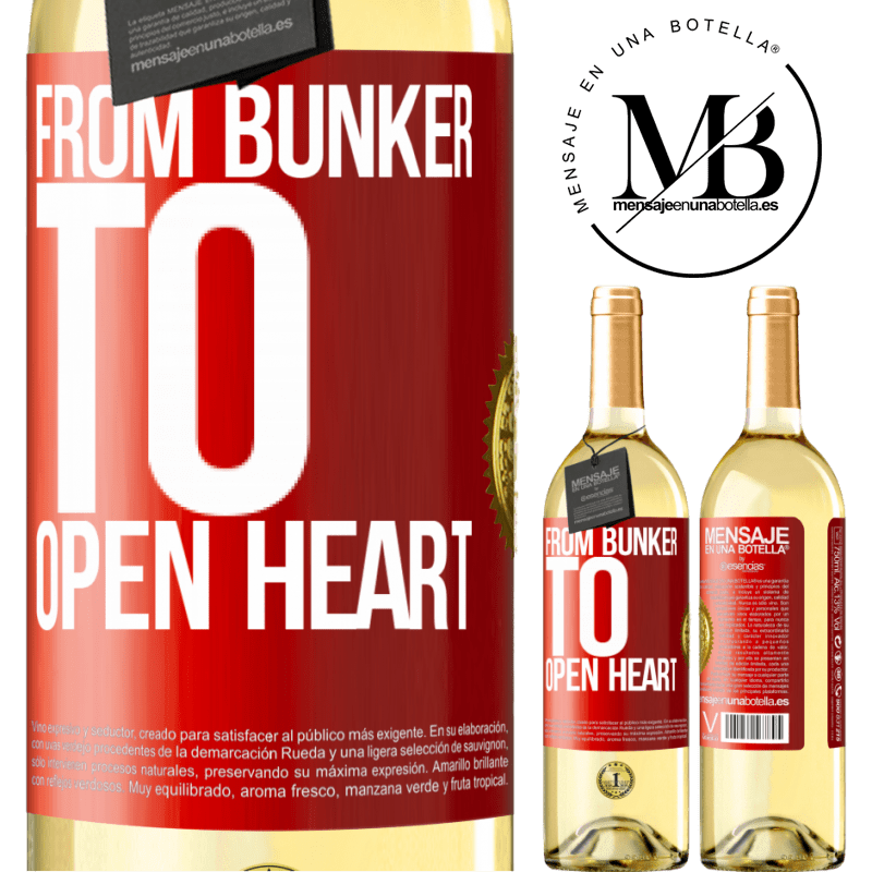 24,95 € Free Shipping   White Wine WHITE Edition From bunker to open heart Red Label. Customizable label Young wine Harvest 2020 Verdejo