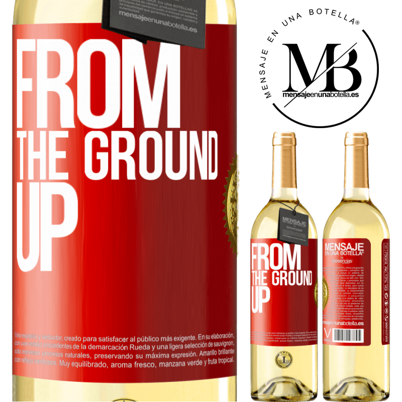 24,95 € Free Shipping | White Wine WHITE Edition From The Ground Up Red Label. Customizable label Young wine Harvest 2020 Verdejo