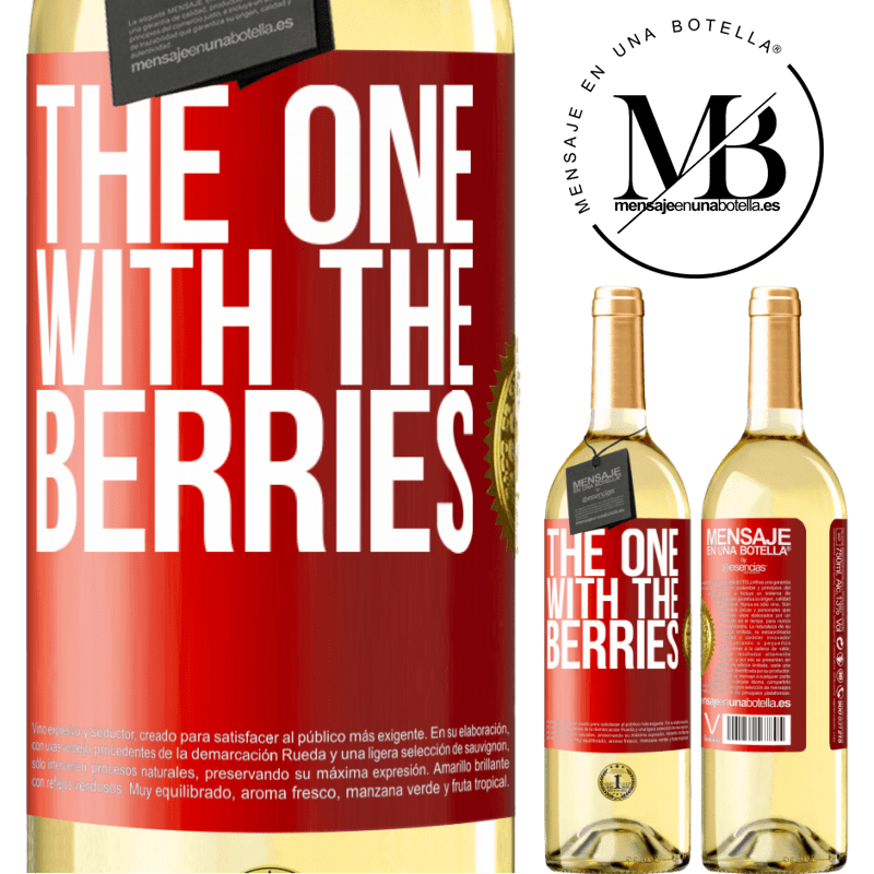 24,95 € Free Shipping | White Wine WHITE Edition The one with the berries Red Label. Customizable label Young wine Harvest 2020 Verdejo