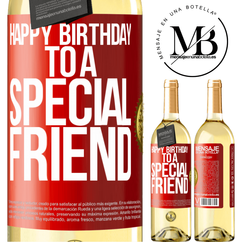 24,95 € Free Shipping   White Wine WHITE Edition Happy birthday to a special friend Red Label. Customizable label Young wine Harvest 2020 Verdejo