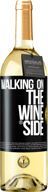 24,95 € | White Wine WHITE Edition Walking on the Wine Side® Black Label. Customizable label Young wine Harvest 2020 Verdejo