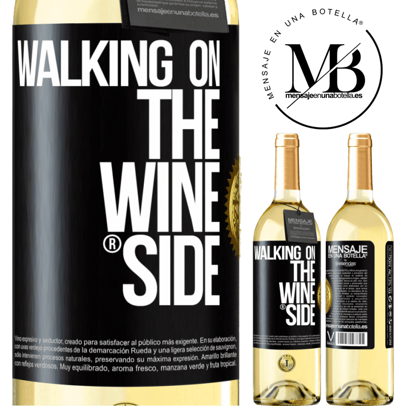 24,95 € Free Shipping | White Wine WHITE Edition Walking on the Wine Side® Black Label. Customizable label Young wine Harvest 2020 Verdejo