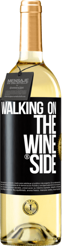 24,95 € Envío gratis | Vino Blanco Edición WHITE Walking on the Wine Side® Etiqueta Negra. Etiqueta personalizable Vino joven Cosecha 2020 Verdejo