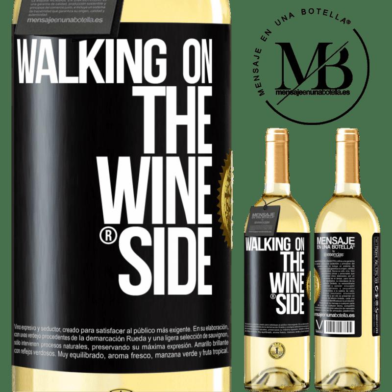 24,95 € Envoi gratuit | Vin blanc Édition WHITE Walking on the Wine Side® Étiquette Noire. Étiquette personnalisable Vin jeune Récolte 2020 Verdejo