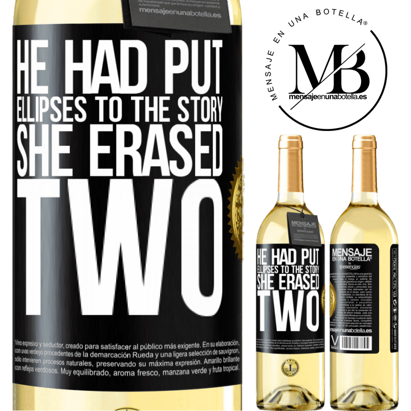 24,95 € Free Shipping | White Wine WHITE Edition he had put ellipses to the story, she erased two Black Label. Customizable label Young wine Harvest 2020 Verdejo