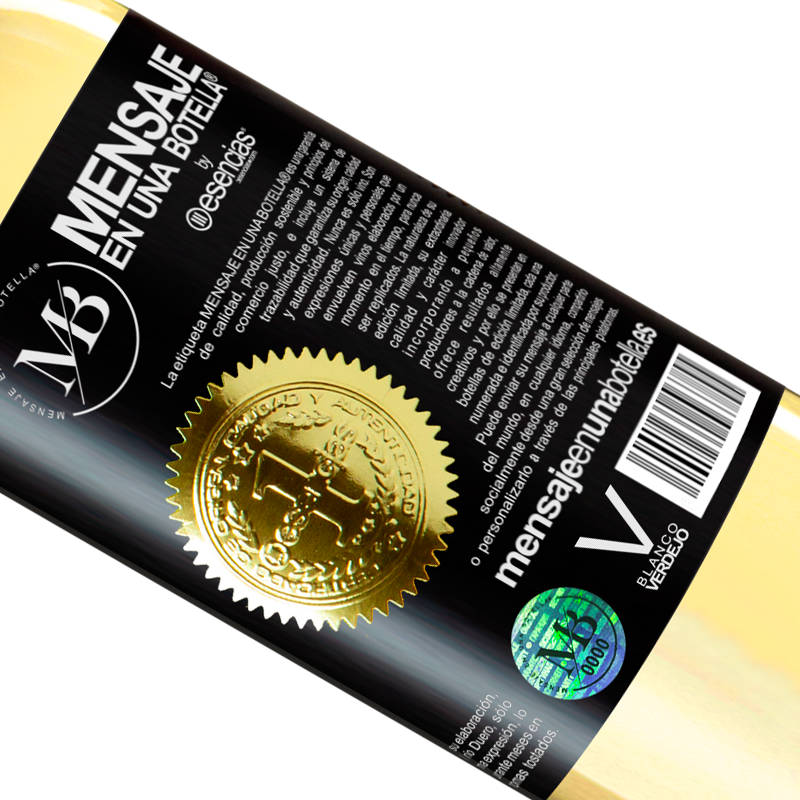 Limited Edition. «People resemble wine. Time sour the bad and improve the good» WHITE Edition