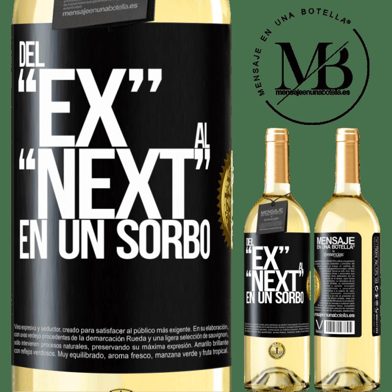 24,95 € Free Shipping | White Wine WHITE Edition Del EX al NEXT en un sorbo Black Label. Customizable label Young wine Harvest 2020 Verdejo