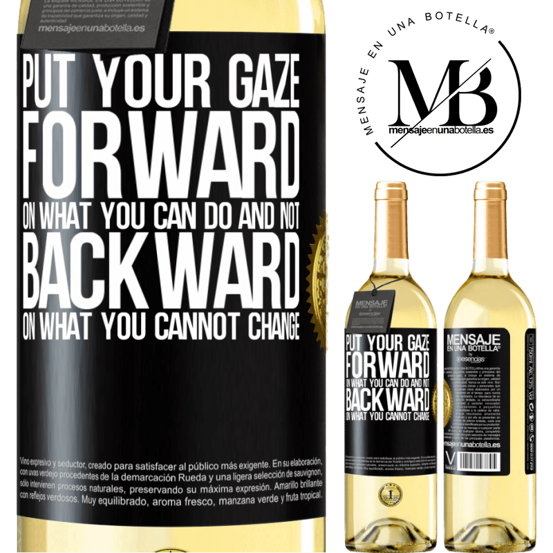 24,95 € Free Shipping   White Wine WHITE Edition Put your gaze forward, on what you can do and not backward, on what you cannot change Black Label. Customizable label Young wine Harvest 2020 Verdejo