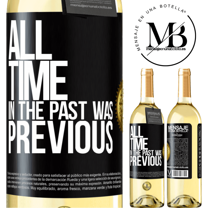24,95 € Free Shipping | White Wine WHITE Edition All time in the past, was previous Black Label. Customizable label Young wine Harvest 2020 Verdejo