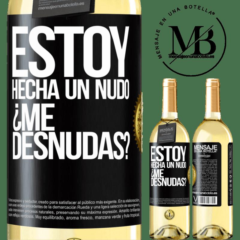 24,95 € Free Shipping | White Wine WHITE Edition Estoy hecha un nudo. ¿Me desnudas? Black Label. Customizable label Young wine Harvest 2020 Verdejo