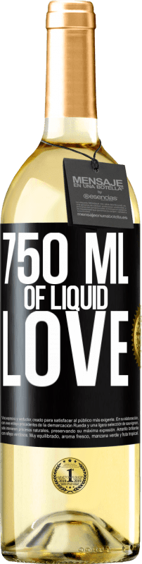 24,95 € | White Wine WHITE Edition 750 ml of liquid love Black Label. Customizable label Young wine Harvest 2020 Verdejo