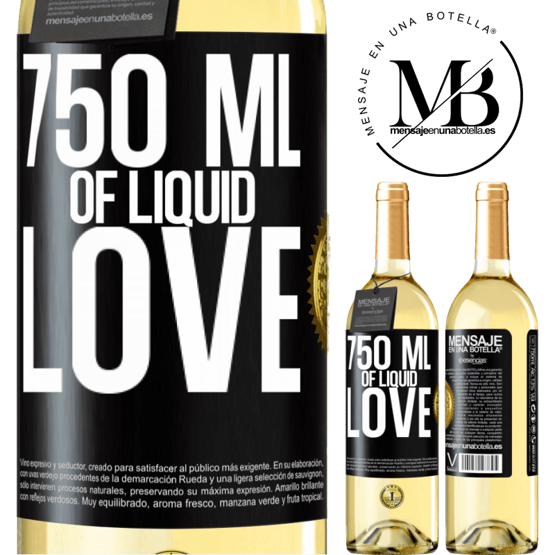24,95 € Free Shipping | White Wine WHITE Edition 750 ml of liquid love Black Label. Customizable label Young wine Harvest 2020 Verdejo