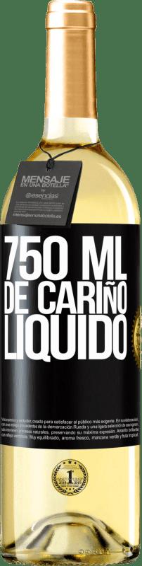 24,95 € Envío gratis | Vino Blanco Edición WHITE 750 ml. de cariño líquido Etiqueta Negra. Etiqueta personalizable Vino joven Cosecha 2020 Verdejo