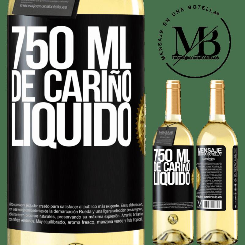 24,95 € Envoi gratuit | Vin blanc Édition WHITE 750 ml d'amour liquide Étiquette Noire. Étiquette personnalisable Vin jeune Récolte 2020 Verdejo
