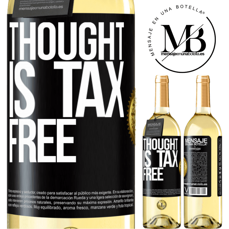 24,95 € Free Shipping   White Wine WHITE Edition Thought is tax free Black Label. Customizable label Young wine Harvest 2020 Verdejo