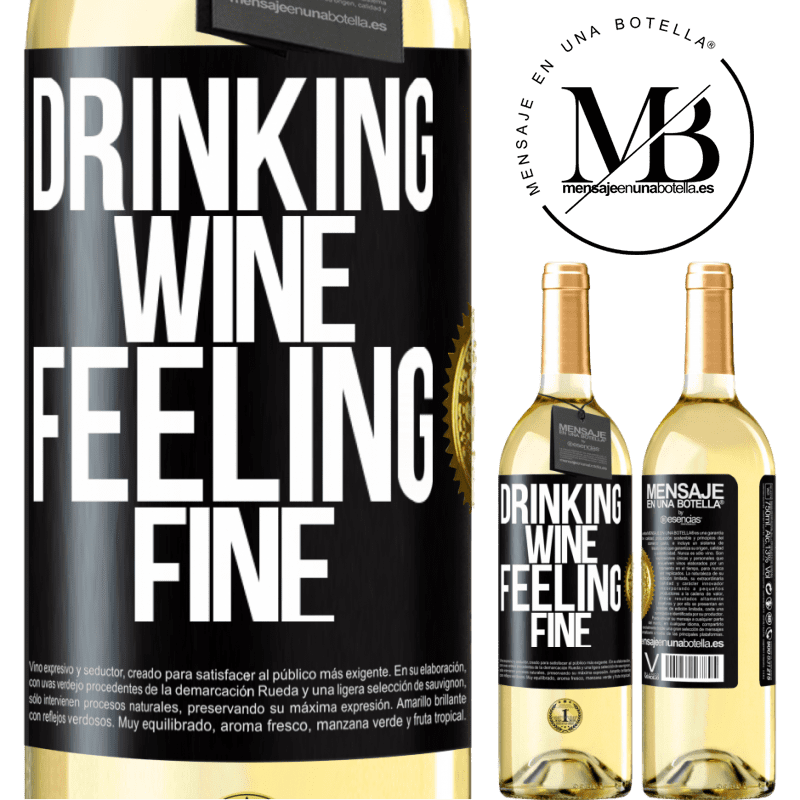 24,95 € Free Shipping   White Wine WHITE Edition Drinking wine, feeling fine Black Label. Customizable label Young wine Harvest 2020 Verdejo