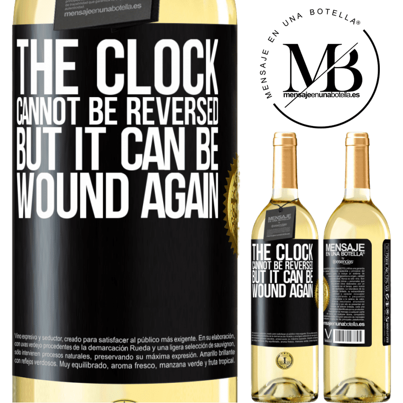 24,95 € Free Shipping   White Wine WHITE Edition The clock cannot be reversed, but it can be wound again Black Label. Customizable label Young wine Harvest 2020 Verdejo