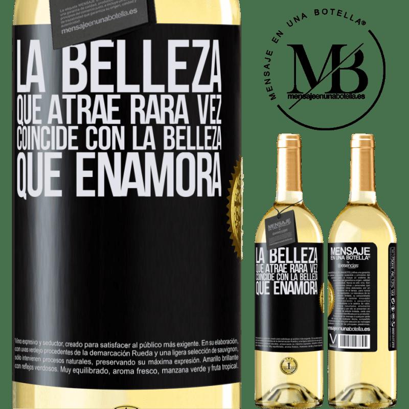 24,95 € Envoi gratuit | Vin blanc Édition WHITE La beauté qui attire correspond rarement à la beauté qui tombe amoureuse Étiquette Noire. Étiquette personnalisable Vin jeune Récolte 2020 Verdejo