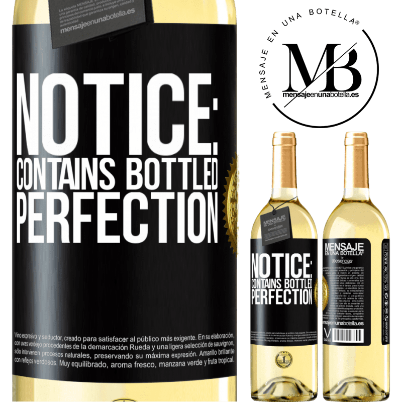 24,95 € Free Shipping   White Wine WHITE Edition Notice: contains bottled perfection Black Label. Customizable label Young wine Harvest 2020 Verdejo